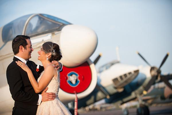 Sylvia & John's Saint Teresa, NM Airplane Museum Wedding by Debra Gulbas Photography