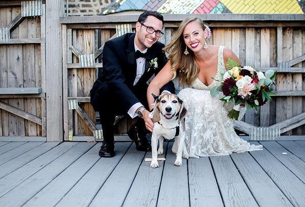Lyndsey & Alexander's Rooftop Chicago, IL Wedding by Kat/Eye Studios