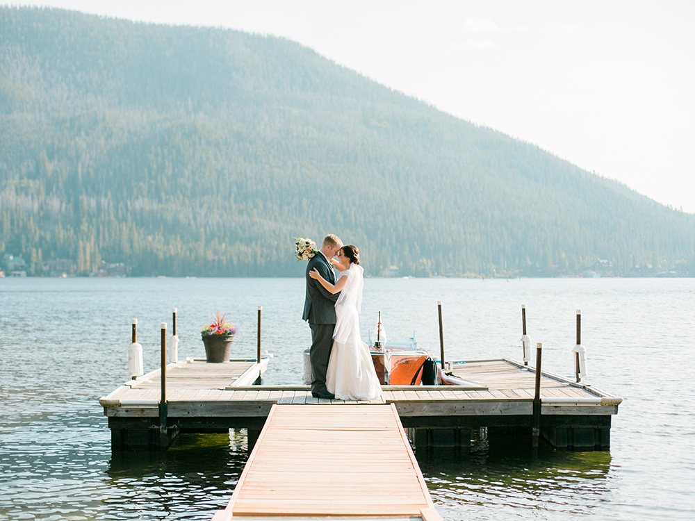 Claire and Tyler's Lakeside Colorado Wedding by Rachel Havel