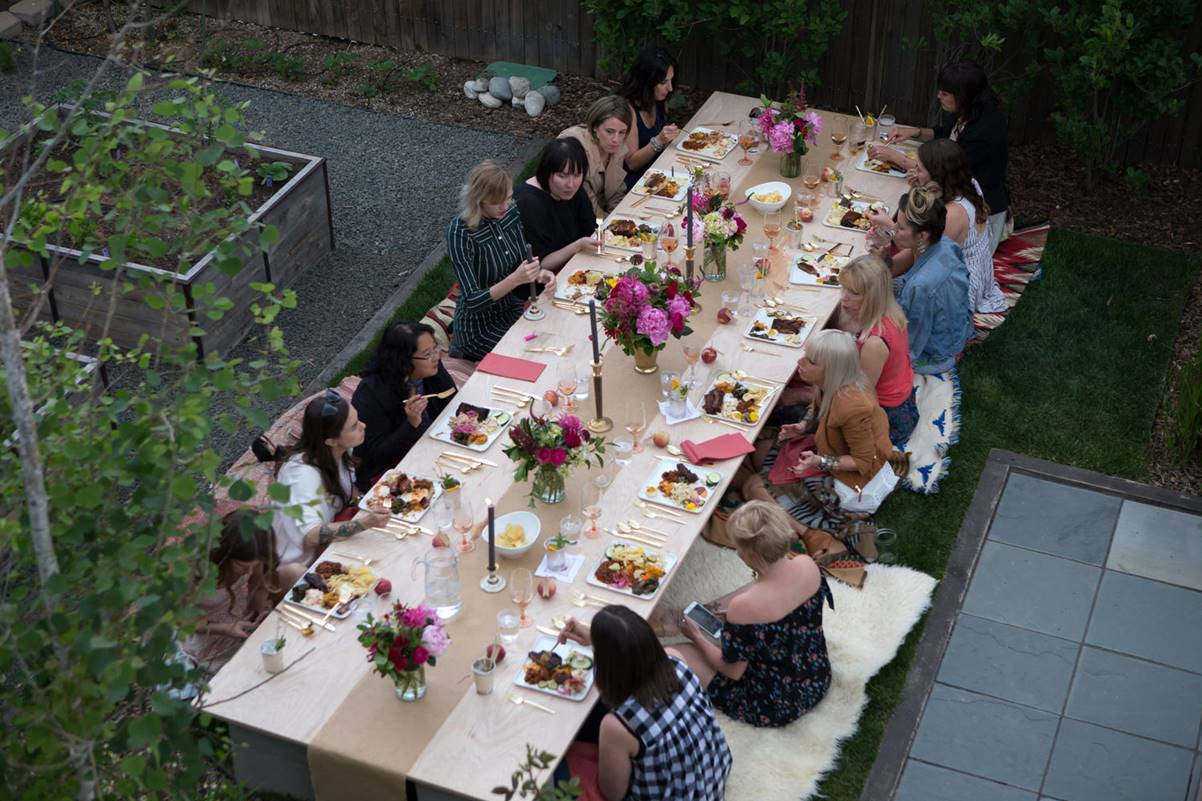 A Modern Backyard Denver, CO Bridal Shower