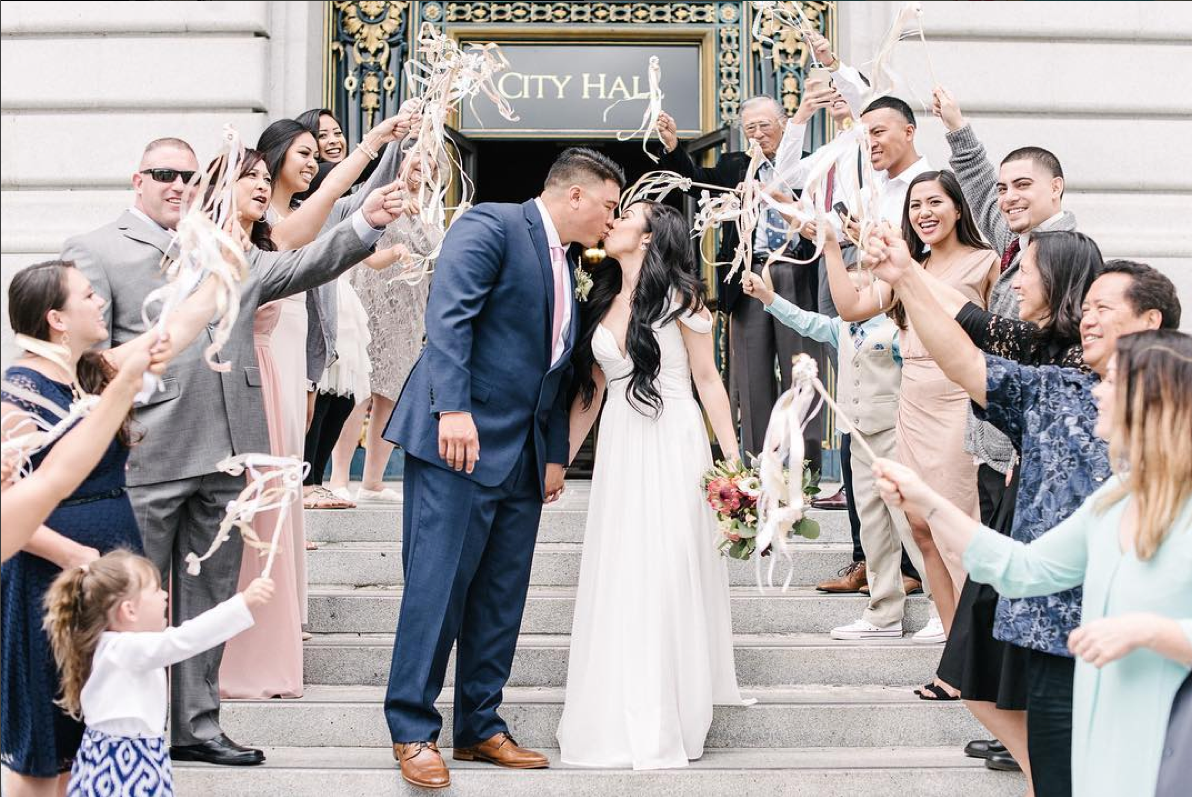 The Most Adorable City Hall Wedding Photos on Instagram