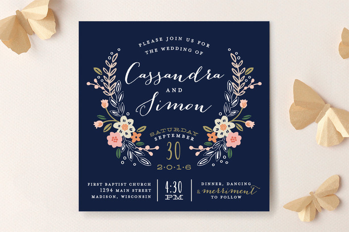10 Garden Party Perfect Floral Wedding Invitations