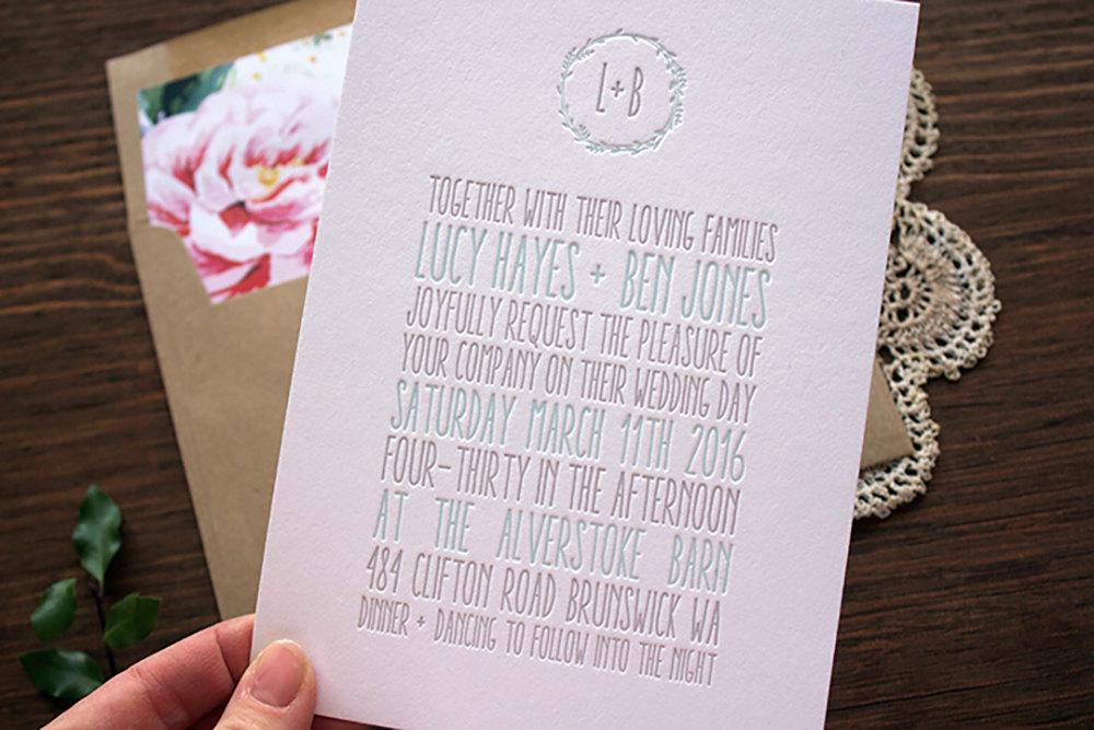 10 Letterpress Wedding Invitations