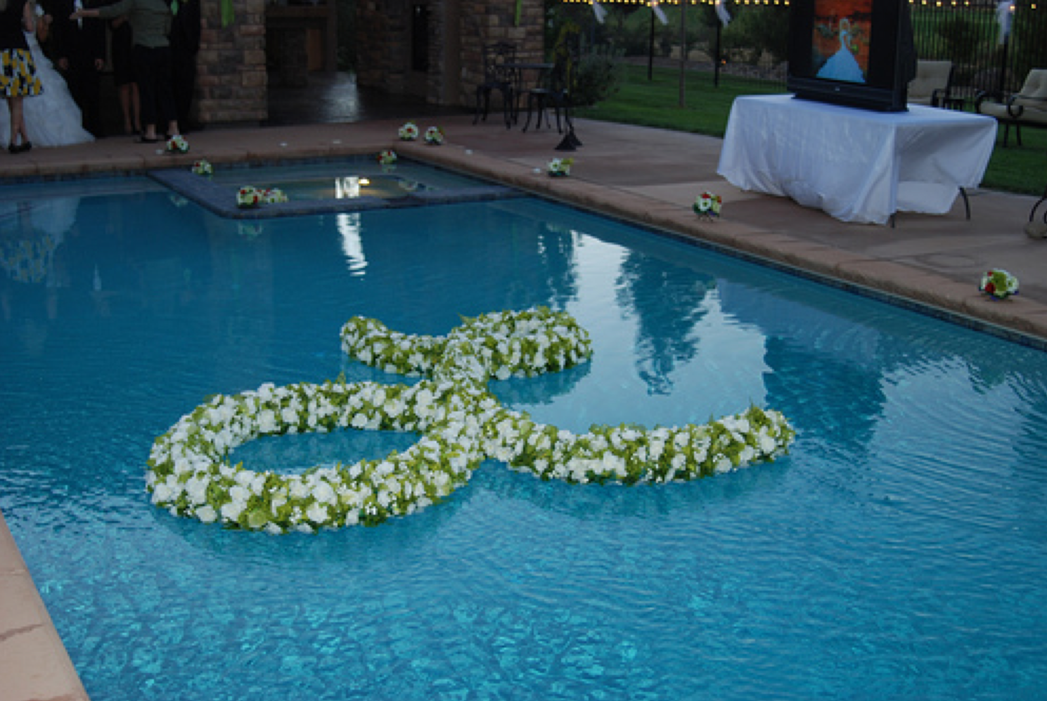 floating flower monogram