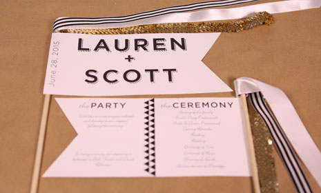 DIY Bunting Flag Wedding Programs